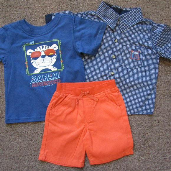 Nannette toddler boys 3 piece shorts set 18 24 Mo